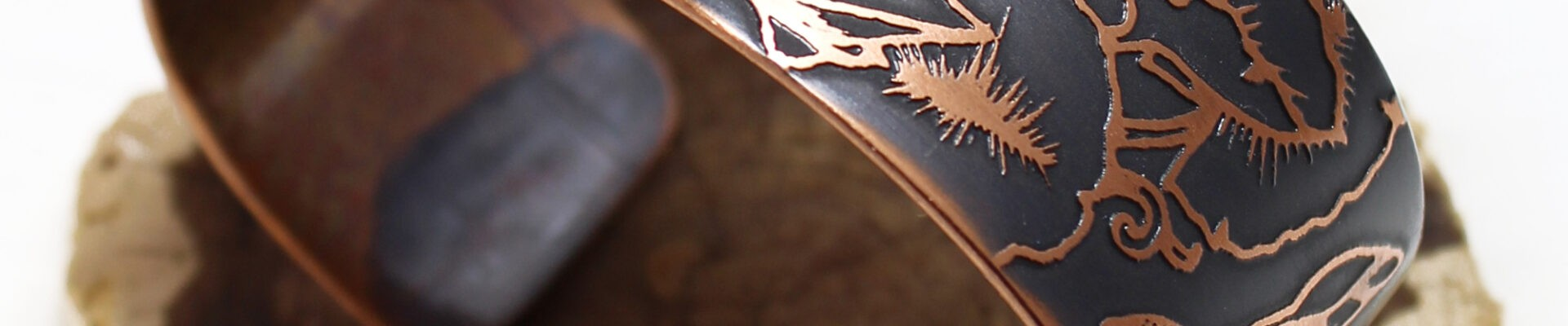 Lotus Flower & Dragonflies, Copper Cuff, Handmade Bracelet