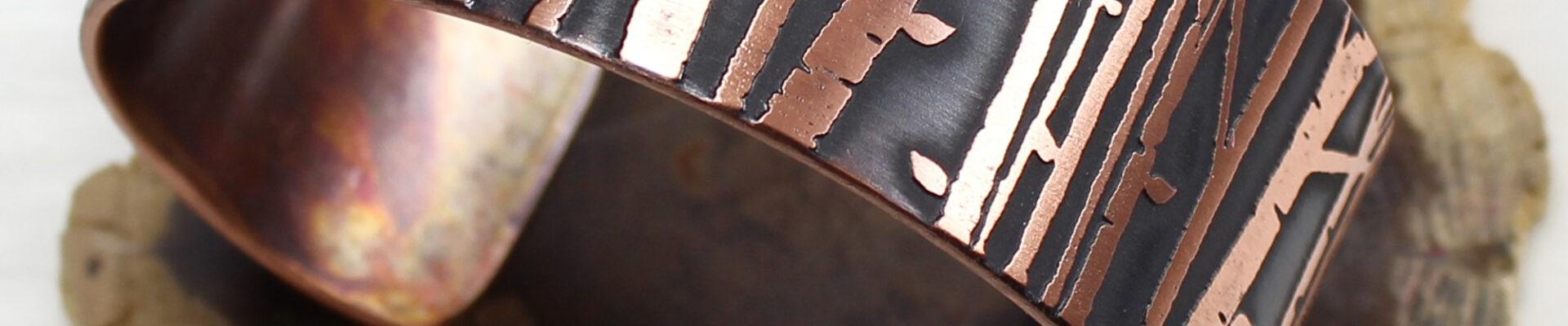 Aspen Grove, Copper Cuff, Handmade Bracelet
