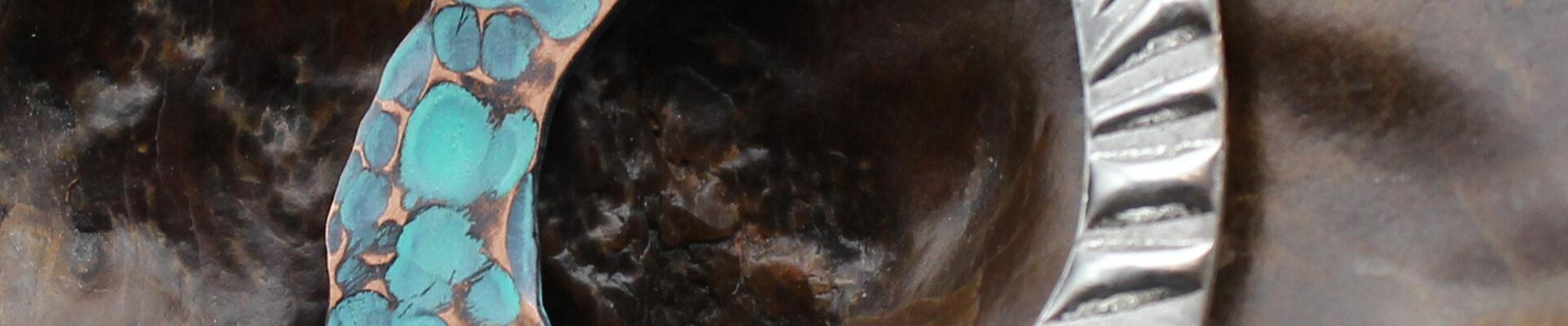 Molten Metal, Handmade Silver & Copper Necklace